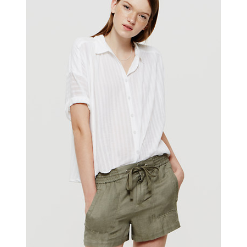 Lou & Grey Brushed Linen Shorts